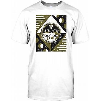 Azteken Sonne Mond Design - Maya Herren T Shirt