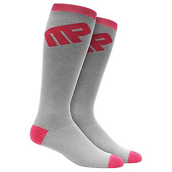 MusclePharm MP Knee High Socks -Gray/Pink - gym fitness training