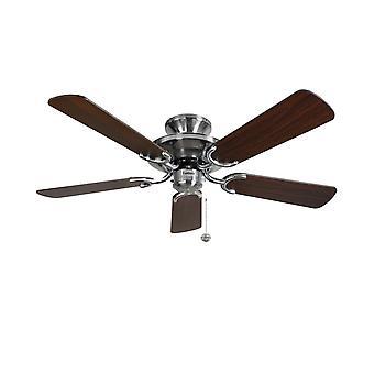 Mayfair de ventilateur de plafond acier / foncé chêne 107cm/42