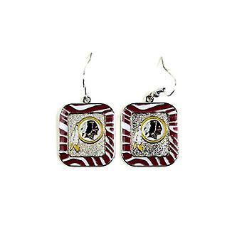 Washington Redskins NFL cebra estilo pendientes