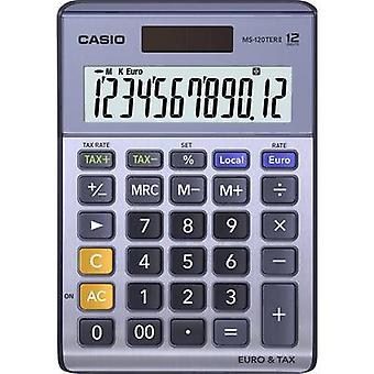 Casio MS-120TERII Desk calculator Purple-grey Display (digits): 12 solar-powered, battery-powered (W x H x D) 103 x 29 x 147 mm