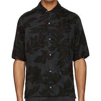 قميص الأكمام قصيرة طباعة أوراق سويستي الديزل