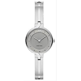 Deens design chic Iris horloge-zilver/grijs