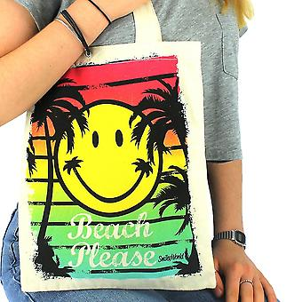 Smiley wereld shopper bag