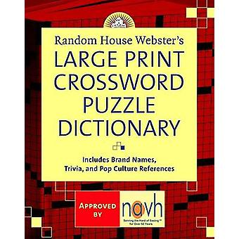 Random House Webster's Large Print Crossword Puzzle Dictionary by Ste