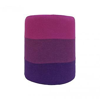 Muebles Rebecca taburete puff madera tela púrpura moderna 45x35x35