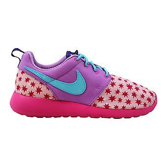 Nike Roshe One Print Prism Pink/Blue-Fuchsia 677784-604 Grade-School