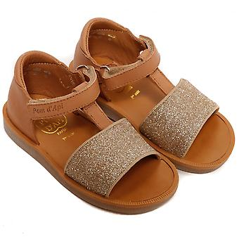 Pom D'Api Poppy Tao Easy Sandal, kameel/Dore
