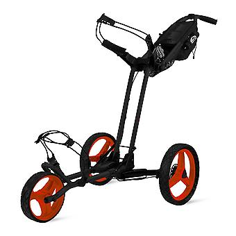 Sun Mountain Pathfinder 3 Rad Push Golf Trolley Cart Schwarz Inferno
