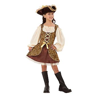 Bristol Novelty Girls Pirate Dress And Hat Costume