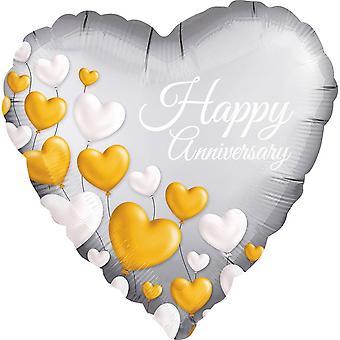 Anagram Heart Anniversary Foil Balloon