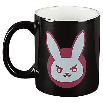 Mug - Overwatch - D.VA Logo Black Ceramic 11oz New j7857-black