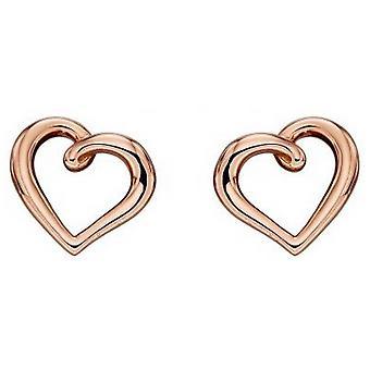 Elements kulta orgaaninen sydän korva korut-nousi kultaa