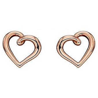Boucles d'oreilles Elements Gold Organic Heart - Rose Gold
