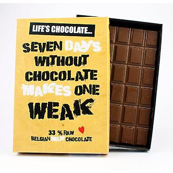 Funny Boxed Chocolate Quote Gift For Men Women Best Friend Greeting Card for Him or Her LC105