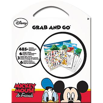 Grab & Go Pegatinas - Disney - Mickey & Friends New Calcals Toys Games st9123