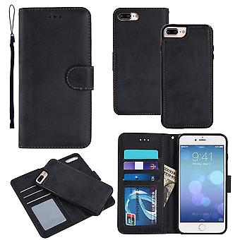 Suede magnetic case for iPhone 7+/8+ with magnetic lock.