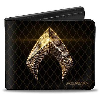 Aquaman Symbol & Schuppen Bi-fold Brieftasche