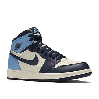 Air Jordan 1 retro High og GS ' Obsidian '-575441-140-schoenen