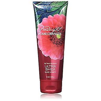 (2 Pacote) Banho e Corpo Funciona Meia-Noite Romã Ultra Shea Body Cream 8 oz / 226 g