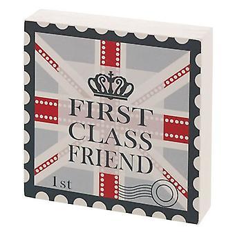 First Class Friend Gift Block