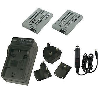 Dot.Foto Canon BP-208, BP - 208DG - 7.4 v / 850mAh (2-Pack) e bateria carregador de viagem