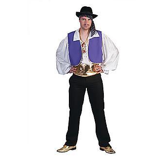 Gypsy King, artist mäns kostym Gaukler Gypsy mäns kostym