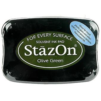 StazOn Solvent Ink Pad - Olive Green