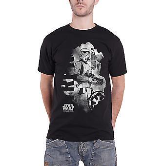 Rogue un Stormtrooper de Star Wars T camisa agobiados Logo oficial para hombre nuevo negro