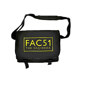 The Hacienda FAC 51 logo new Official Black Messenger Bag