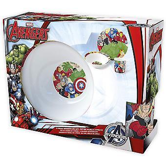 Marvel Avengers Breakfast Set 3in1 set pasto regalo-Set Ceramica