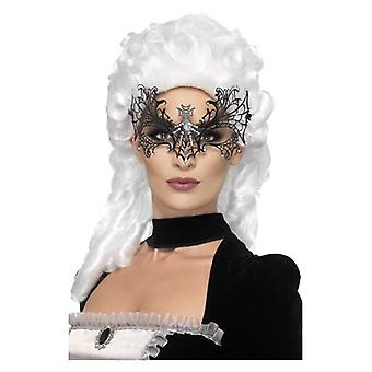 Womens Black viúva Web Eyemask Fancy Dress acessório