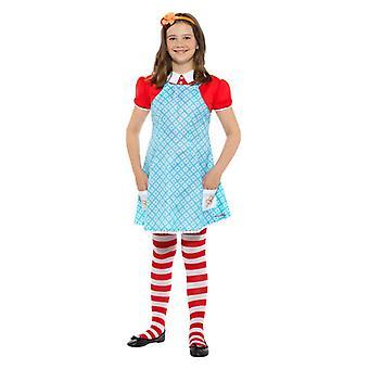Traje das meninas Enid Blyton famoso cinco Anne Fancy Dress