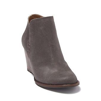 Lucky marca mujeres YAHIR cuero almendra dedo del dedo del dedo del tobillo botas de la plataforma