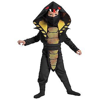 Cobra Ninja Stealth Black Japanese Warrior Karate Book Week Boys Costume S