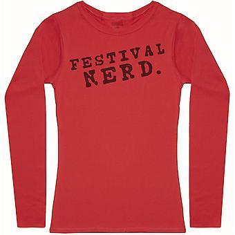 Festival Nerd. - Camiseta de manga larga para mujer