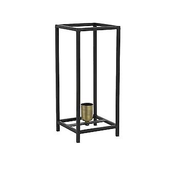 Leichte & lebenden Tisch Lampe 16 X 16 X 38 Cm Marley verfilzt schwarz/Ant Brons