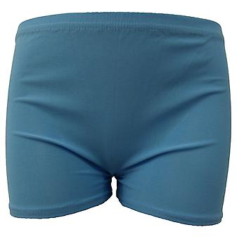 Wicked Nights Turquoise Lycra Hot Pants M/L