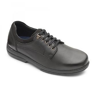 Padders Declan Mens Leather Extra Wide (h/k) Shoes Black