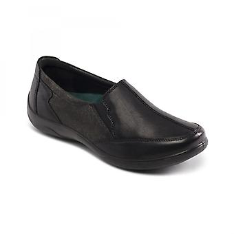 Padders Flute Ladies Leather Extra Wide (2e/3e) Shoes Black