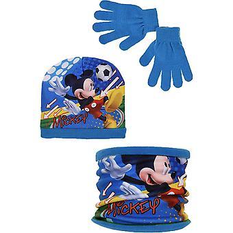 ボーイズ HQ4331 ディズニーミッキーマウス ウィンターハット スカーフカラーとグローブセット