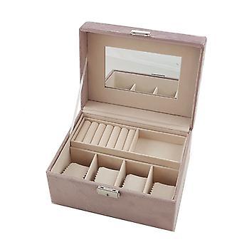 Caixa de jóias de veludo jóias de caixa de jóias rosa