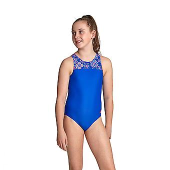 Zoggs Enchanted Infinity Girl's One Pieces Swimsuit Blue / Multi Eco Fabric
