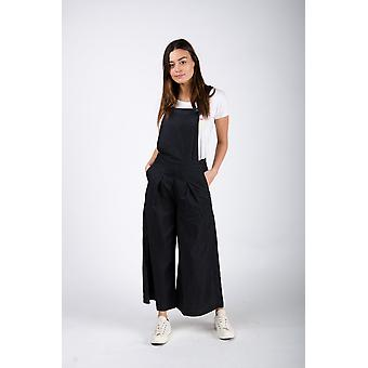 Bluebell señoras culotte dungarees negro