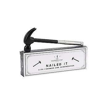 CGB Giftware Dapper Chap Nailed It 6 In 1 Hammer/Screwdriver Multi Tool