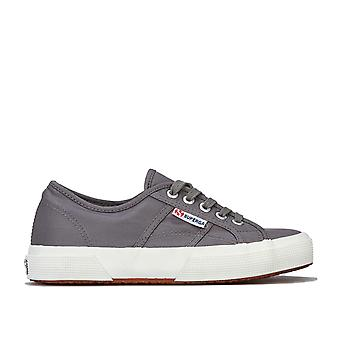 Womens Superga 2750 Plus Nylon Classic Pumps In Grey- Lace Fastening- Cushioned