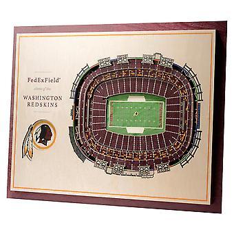 YouTheFan Wood Wall Decoration Stadium Washington Redskins 43x33cm