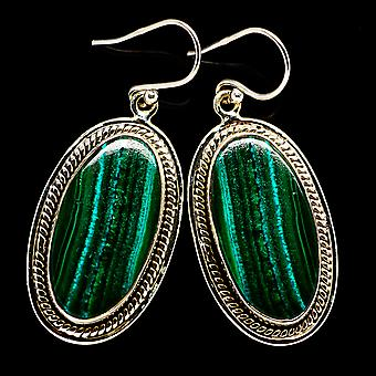 Malachite Earrings 1 3/4