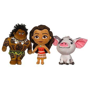 3-Pack Disney Vaiana/Moana Maui Pua 30cm Plush Docka Stuffed Soft ice animals