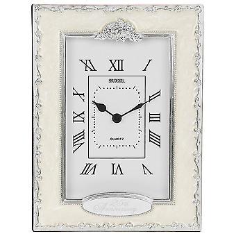 Shudehill Giftware Silver Wedding 25th Anniversary Celebration Quartz Clock